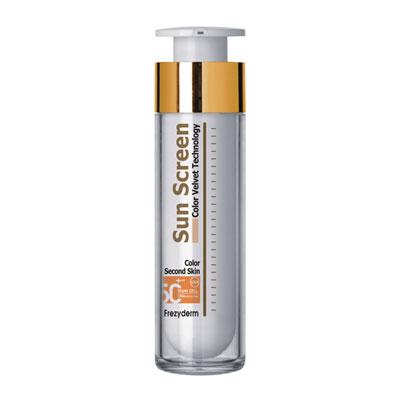 Frezyderm Sun Screen Second Skin Color Velvet Face Αντηλιακό Προσώπου με Χρώμα SPF50+ 50ml