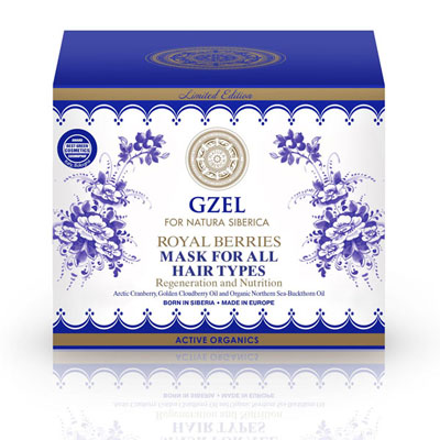 Natura Siberica Gzel Royal Berries Hair Mask, Αναγέννηση & Θρέψη, για Όλους τους Τύπους 400ml